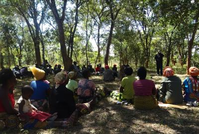 Community meeting about Katanino Forest